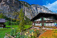 Waterfall, Lauterbrunnen Valley, Canton Bern, Switzerland