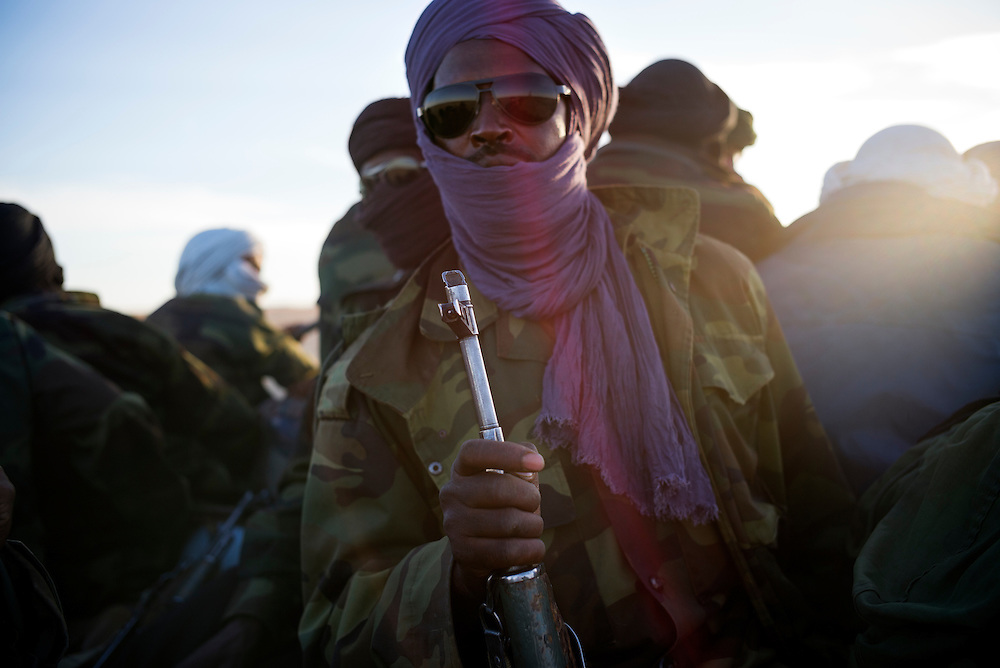 Western Sahara/Zug 2016-10-15<br /> Polisario soldier Alien Mbarek Al Aid, wearing a purple turban, on his way from Mijek to the Gueguerat area where the current tension has been building up