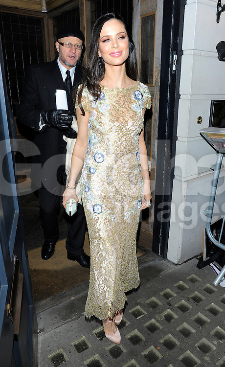 Georgina Chapman attends Harvey Weinstein's pre-BAFTA dinner at Little House restaurant in London, UK. 14/02/2014<br />