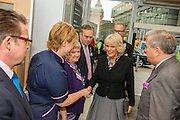 Her Royal Highness arrives and is met by senior staff. The Duchess of Cornwall, Patron, Arthritis Research UK, visits and meets patients of the Adolescent Inpatient Unit at University College London Hospitals.  •	Her Royal Highness then tours a laboratory at the Arthritis Research UK Centre for Adolescent Rheumatology and meeting researchers and supporters. London 12 Feb 2015.