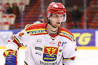 2020-02-01 | Ljungby, Sweden: Skövde IK (24) Oscar Forsmark during the game between IF Troja / Ljungby and Skövde IK at Ljungby Arena ( Photo by: Fredrik Sten | Swe Press Photo )<br /> <br /> Keywords: Ljungby, Icehockey, HockeyEttan, Ljungby Arena, IF Troja / Ljungby, Skövde IK, fsts200201, ATG HockeyEttan, Allettan