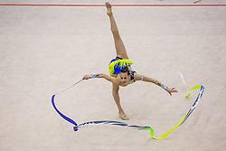 Ashram Linoy of Israel competes during 29th MTM - International tournament in rhythmic gymnastics Ljubljana, on March 12, 2016 in gymnastics center Ljubljana, Ljubljana, Slovenia.  Photo by Grega Valancic / Sportida