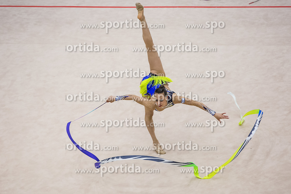 Ashram Linoy of Israel competes during 29th MTM - International tournament in rhythmic gymnastics Ljubljana, on March 12, 2016 in gymnastics center Ljubljana, Ljubljana, Slovenia.  Photo by Grega Valancic / Sportida