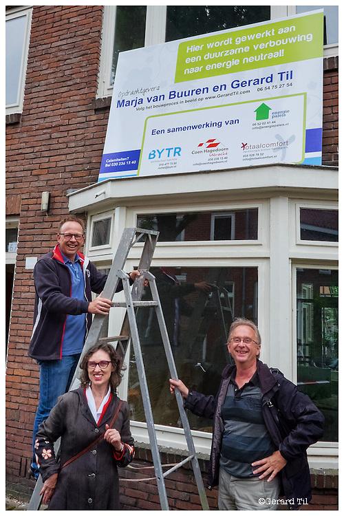 Nederland, Utrecht, 06-08-2014 Renovatie,verbouwing Foto: Gerard Til