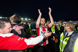 Ryan Harley of Exeter City is mobbed by fans at the final whistle - Mandatory by-line: Gary Day/JMP - 18/05/2017 - FOOTBALL - St James Park - Exeter, England - Exeter City v Carlisle United - Sky Bet League Two Play-off Semi-Final 2nd Leg