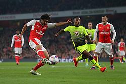 25 October 2016 - EFL Cup - 4th Round - Arsenal v Reading - Mohamed Elneny of Arsenal shoots - Photo: Marc Atkins / Offside.