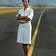 Helene Gayle, President and CEO of CARE at Kisumu airport in Western Kenya.