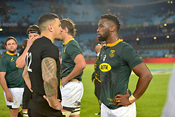 Pretoria, Loftus Versveld Stadium. Rugby Championship. South African Springboks vs New Zealand All Blacks.  06-10-18 All Black player Sonny Bill Williams and Springbok captain Siya Kolisi after the game.<br /> Picture: Karen Sandison/African News Agency(ANA)