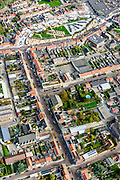 Nederland, Zeeland, Zeeuws-Vlaanderen, 19-10-2014; centrum Breskens met dorpsstraat richting Spuiplein<br /> Downtown Breskens with its mainstreet Villagestreet (Dorpsstraat).<br /> <br /> luchtfoto (toeslag op standard tarieven);<br /> aerial photo (additional fee required);<br /> copyright foto/photo Siebe Swart