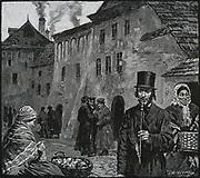 The Jewish ghetto, Cracow, Poland, in 1890