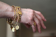 Antique tradition golden jewellery - bracelets and rings from Tripoli, Libya.