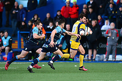 Wynand Olivier of Worcester Warriors breaks free - Mandatory by-line: Dougie Allward/JMP - 04/02/2017 - RUGBY - BT Sport Cardiff Arms Park - Cardiff, Wales - Cardiff Blues v Worcester Warriors - Anglo Welsh Cup