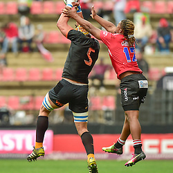 Johannesburg, SOUTH AFRICA, 21, MAY 2016 - during the Super Rugby match between Emirates Lions vs Jaguares ,Emirates Airlines Park,Johannesburg.<br /> Tomás Lavanini of the Jaguares and Howard Mnisi of the Emirates Lions. <br /> <br /> South Africa. (Photographer Christiaan Kotze ) -- (Steve Haag Sports) <br /> <br /> Images for social media must have consent from Steve Haag