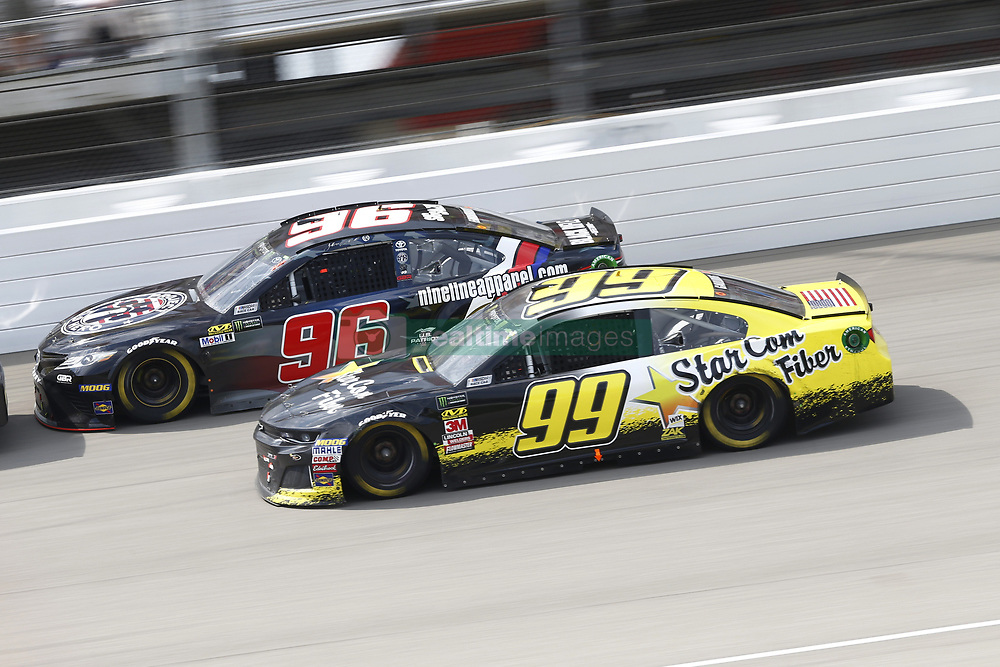 August 12, 2018 - Brooklyn, Michigan, United States of America - Gray Gaulding (99) and Jeffery Earnhardt (96) battle for position during the Consumers Energy 400 at Michigan International Speedway in Brooklyn, Michigan. (Credit Image: © Chris Owens Asp Inc/ASP via ZUMA Wire)