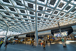 Interior of Den Haag Centraal railway station in The Hague, Netherlands