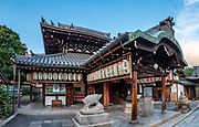 Zenkyoan boar shrine in Kyoto, Japan. This image was stitched from multiple overlapping photos.