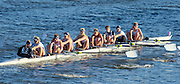 Cambridge. MA. USA.  Oxford University Women's Boat Club, moving away from the Eliot Bridge,  The Championship eights. 49th edition of the Head of the Charles, Charles River.<br />