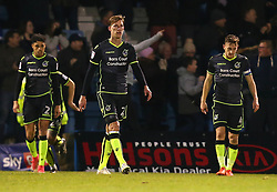 Joe Partington of Bristol Rovers and teammates cut frustrated figures - Mandatory by-line: Robbie Stephenson/JMP - 16/12/2017 - FOOTBALL - MEMS Priestfield Stadium - Gillingham, England - Gillingham v Bristol Rovers - Sky Bet League One