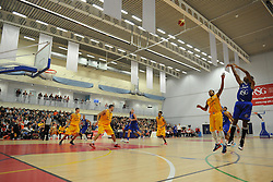 Bristol Flyers' Doug Herring scores. - Photo mandatory by-line: Nizaam Jones/JMP - Mobile: 07966 386802 - 08/11/2014 - SPORT - Basketball - Bristol - SGS Wise Campus - Bristol Flyers v Sheffield Sharks - British Basketball League