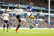 Tottenham Hotspur Forward Harry Kane (10) and Everton defender Ramiro Funes Mori (25) contest for the ball during the Premier League match between Tottenham Hotspur and Everton at White Hart Lane Stadium, London, England on 5 March 2017. Photo by Andy Walter.