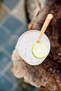 Gin and tonic with natural straw. Song Saa Private Island