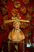 Surrealist painter Salvador Dali's Museum. Bust of a naked woman with a baguette on top.