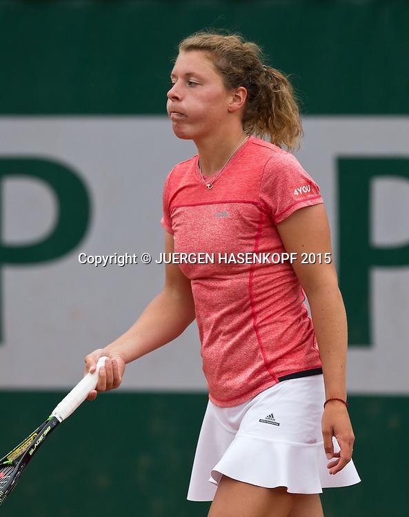 Anna-Lena Friedsam (GER) reagiert veraergert,Frust,Aerger,Emotion,<br /> <br /> Tennis - French Open 2015 - Grand Slam ITF / ATP / WTA -  Roland Garros - Paris -  - France  - 26 May 2015.