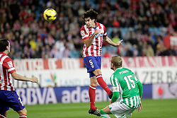 27.10.2013, Estadio Vicente Calderon, Madrid, ESP, Primera Division, Atletico Madrid vs Real Betis, 10. Runde, im Bild Atletico de Madrid's Tiago // Atletico de Madrid's Tiago during the Spanish Primera Division 10th round match between Club Atletico de Madrid and Real Betis at the Estadio Vicente Calderon in Madrid, Spain on 2013/10/28. EXPA Pictures © 2013, PhotoCredit: EXPA/ Alterphotos/ Victor Blanco<br /> <br /> *****ATTENTION - OUT of ESP, SUI*****
