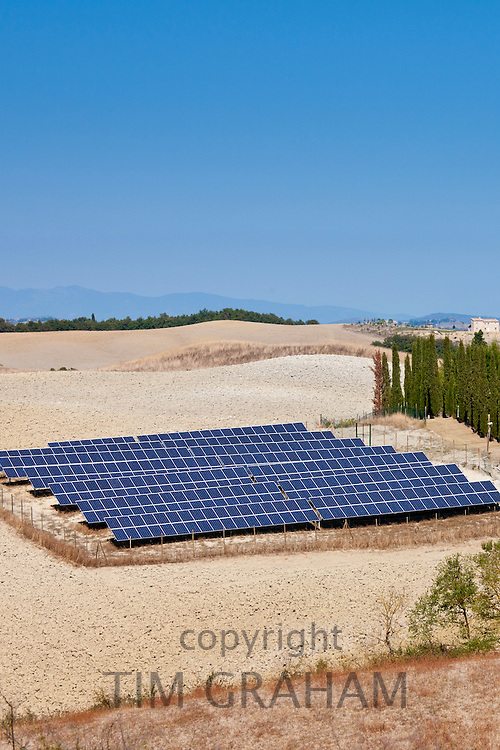 Solar panels at Murlo in Tuscany, Italy