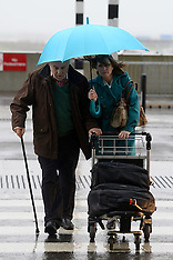 DEC 23 2013 Christmas travellers leave for holidays at Heathrow Airport