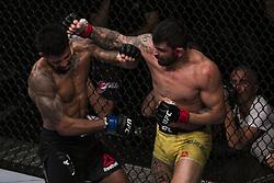 October 28, 2017 - Sao Paulo, Sao Paulo, Brazil - Oct, 2017 - Sao Paulo, Sao Paulo, Brazil - Fighting between ELIZEU ZALESKI DOS SANTOS (Capoeira) and MAX GRIFFIN (Pain) during UFC Fight Night, at the Ibirapuera Gymnasium in Sao Paulo, this Saturday (28).  ZALESKI (in yellow) won. (Credit Image: © Marcelo Chello via ZUMA Wire)