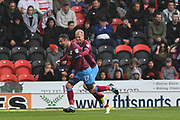 Scunthorpe United forward Lee Novak (17) celebrates scoring goal with Scunthorpe United midfielder Neal Bishop (12)  to go 0-1 during the EFL Sky Bet League 1 match between Doncaster Rovers and Scunthorpe United at the Keepmoat Stadium, Doncaster, England on 17 September 2017. Photo by Ian Lyall.