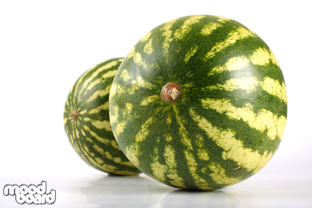 WWatermelon on white background - close-up