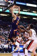 Nov 2, 2016; Phoenix, AZ, USA; Phoenix Suns center Alex Len (21) dunks the ball against the Portland Trail Blazers defense during the first half at Talking Stick Resort Arena. Mandatory Credit: Jennifer Stewart-USA TODAY Sports