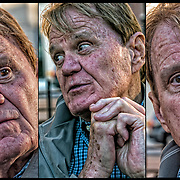 Dotson Rader Triptych showing a range of facial emotions<br /> <br /> Dotson Rader, author has written widely for publications both here and abroad, including The New York Times, The Sunday Times of London, The New Republic, and The Paris Review. <br /> <br /> Rader has published four novels and three works of nonfiction, including Tennessee: Cry of The Heart, An Intimate Memoir of Tennessee Williams. <br /> <br /> He has been a contributing editor to Esquire and Parade.