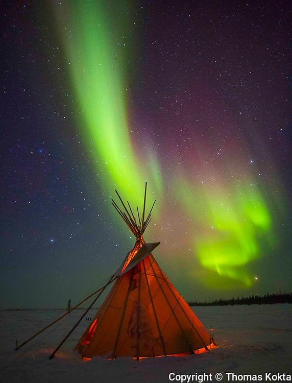 Sea and Sky Aurora Borealis