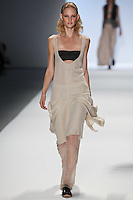 Patricia van der Vliet walks the runway wearing Richard Chai Spring 2011 Collection during Mercedes Benz Fashion Week in New York on September 9, 2010