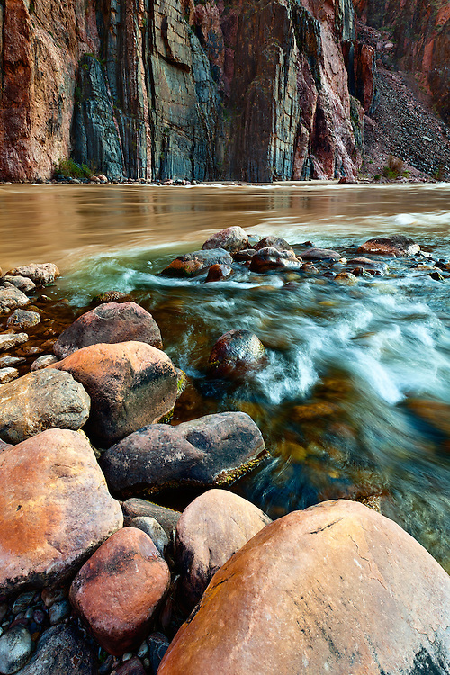 The confluence of Bright Angel Creek and the Colorado River. Grand Canyon National Park, Arizona.