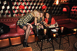 Left to right, BECKY CORBIN-MURRAY, INDIA STANDING and SOLONI LODHA at a party to re-launch Downstairs at Momos, Momos, Heddon Street, London on 22nd February 2010.