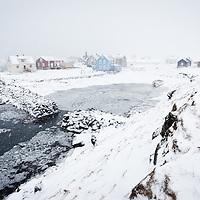Flatey island winter