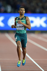 August 8, 2017 - London, England, United Kingdom - Wayde VAN NIEKERK, South Africa,  winning 400 meter finals in London at the 2017 IAAF World Championships athletics on August 8, 2017. (Credit Image: © Ulrik Pedersen/NurPhoto via ZUMA Press)