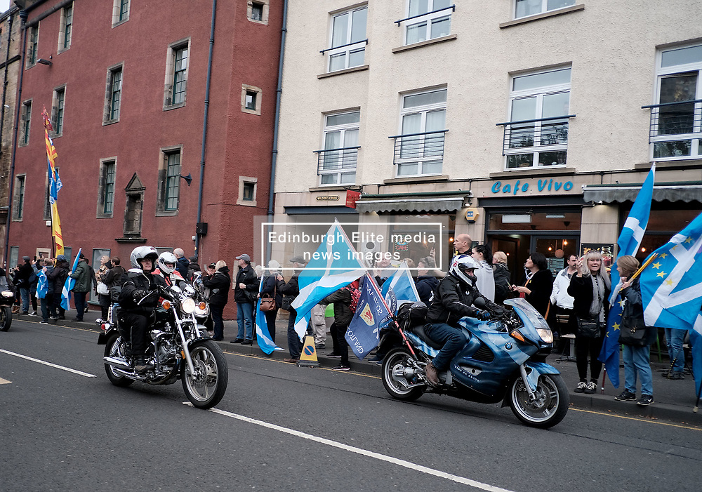 All Under One Banner March, Edinburgh, 5 October 2019<br /> <br /> Pictured: Yes Bikers<br /> <br /> Alex Todd | Edinburgh Elite media