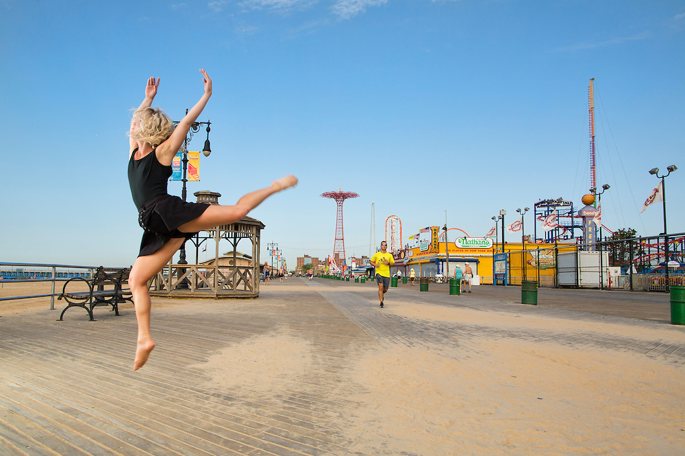 Coney Island Boardwalk. Dance As Art- The New York Photography Project featuring Frida Persson