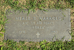 31 August 2017:   Veterans graves in Park Hill Cemetery in eastern McLean County.<br /> <br /> Merle D Harrold  A1C US Air Force  Korea  1931  1983