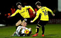 Luke Murphy of Burton Albion brings down Stefan Johansen of Fulham - Mandatory by-line: Robbie Stephenson/JMP - 01/02/2017 - FOOTBALL - Pirelli Stadium - Burton Upon Trent, England - Burton Albion v Fulham - Sky Bet Championship