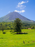 Clear day view of the Arenal Volcano, near La Fortuna, Costa Rica.