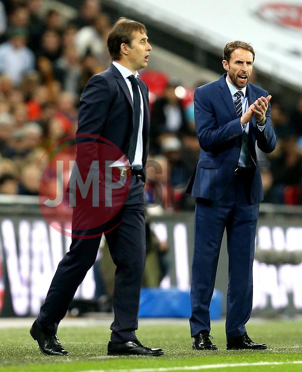 Interim England Manager Gareth Southgate and Spain head coach Julen Lopetegui - Mandatory by-line: Robbie Stephenson/JMP - 15/11/2016 - FOOTBALL - Wembley Stadium - London, United Kingdom - England v Spain - International Friendly