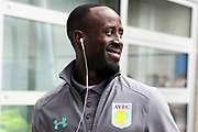 Aston Villa midfielder Albert Adomah (37) arrives ahead of the game prior to the EFL Sky Bet Championship match between Hull City and Aston Villa at the KCOM Stadium, Kingston upon Hull, England on 31 March 2018. Picture by Mick Atkins.