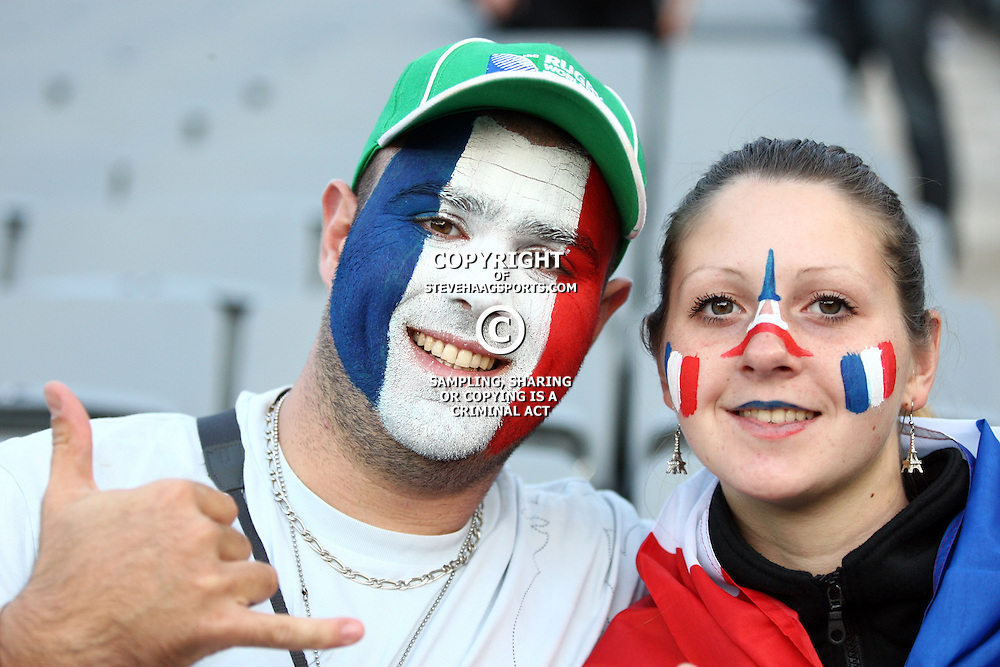 AUCKLAND, NEW ZEALAND - OCTOBER 23, Fans during the 2011 IRB Rugby World Cup final match between New Zealand and France at Eden Park on October 23, 2011 in Auckland, New Zealand<br /> Photo by Steve Haag / Gallo Images