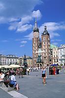Notre Dâme church, Market square, City centre, Old city, Kracow, Poland